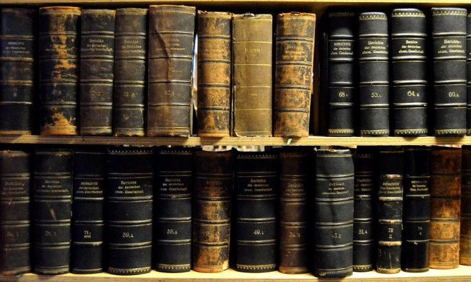 Library Weathered Books Vintage Shelves Old